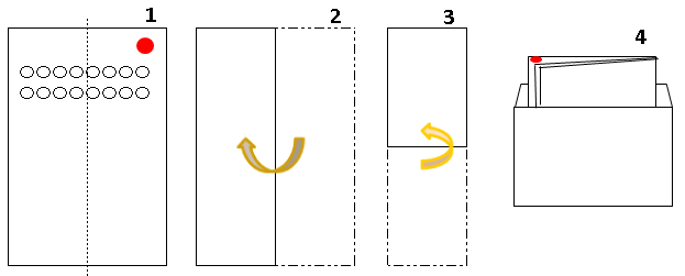 洋封筒の折り方