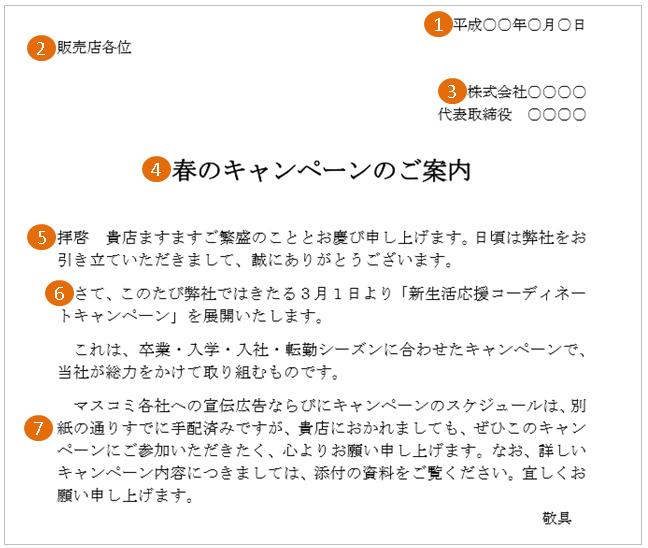 キャンペーン・セールの案内状(文例・テンプレート)2
