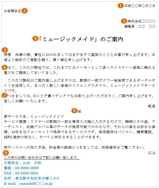 新商品・新サービスのプレスリリースの案内状の書き方