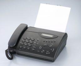 fax送信の依頼メールの文例